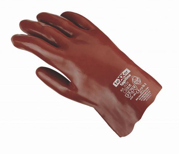 Chemikalienschutzhandschuhe PVC ROTBRAUN TeXXor Modell 2110