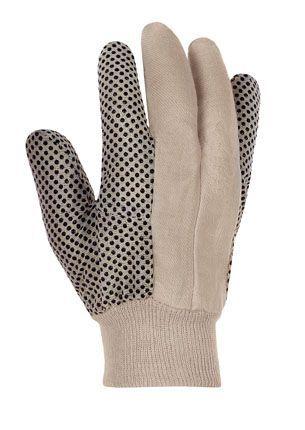 Baumwollhandschuhe KÖPER mit schwarzen Noppen