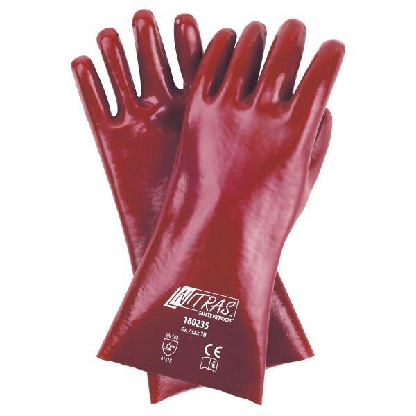 NITRAS PVC-Handschuhe, Baumwoll-Trikot