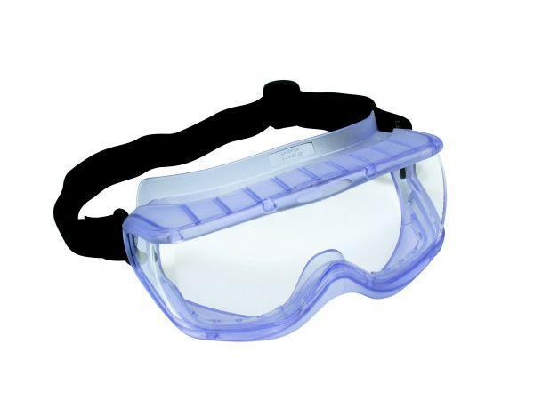 Vollsichtbrille VS054, mit indirekter Ventilation über 6 Schlitze, aus PolyCarbonat (1 mm), extra we