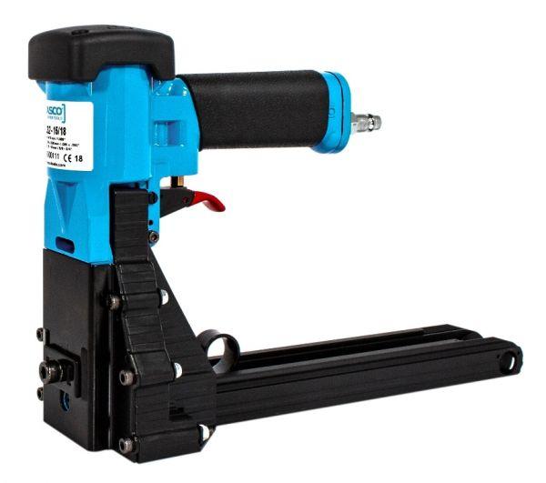 Druckluftklammergerät Typ Kartonverschluss, für Heftklammern bis Breite=32 mm, Länge=15-18 mm, Draht