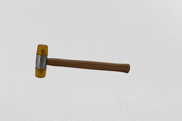 Schonhammer, rückschlagfrei, Nylon-Schlagköpfe 3-32 mm, länge=28 mm