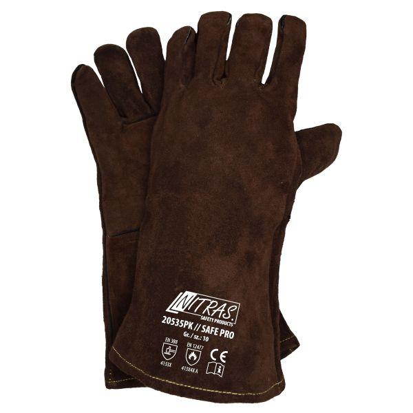 NITRAS SAFE PRO, 5-Finger-Schweißerhandschuhe (amerikanischer Sicherheitsschweißer)