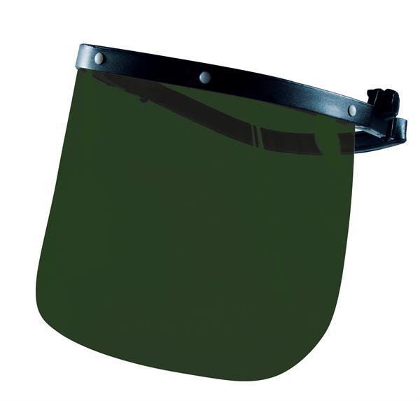 Ersatzscheibe für Gesichtsschutzschirmhalter Modell A, aus PolyEster, Stärke=1 mm, gute Schlagfestig