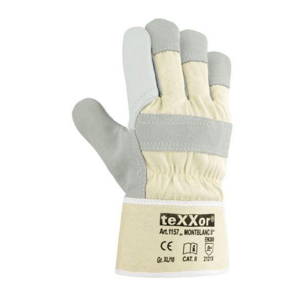 Rindvollleder-Handschuhe MONTBLANC II TeXXor Modell 1157